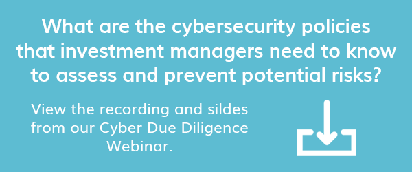 Access our webinar recording and slides on Cyber Due Diligence