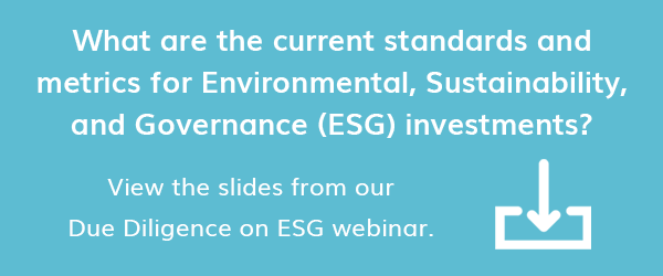 View our Slides from our Due Diligence on ESG Webinar